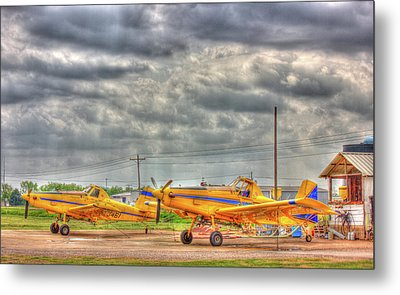 Crop Duster 003 Metal Print by Barry Jones