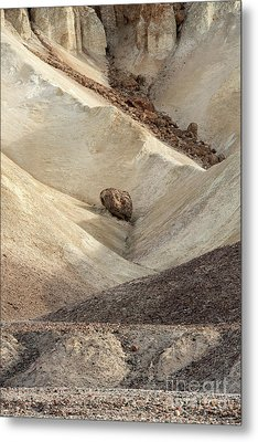 Metal Print featuring the photograph Crossing Paths - Death Valley by Sandra Bronstein