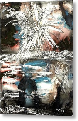 Crossing Spheres Metal Print by Anne-D Mejaki - Art About You productions