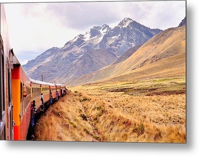 Metal Print featuring the photograph Crossing The Andes by Nigel Fletcher-Jones