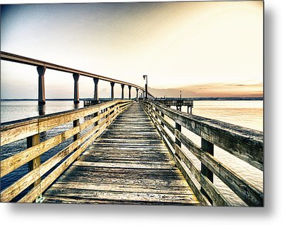 Crossing The River  Metal Print by Kelly Reber
