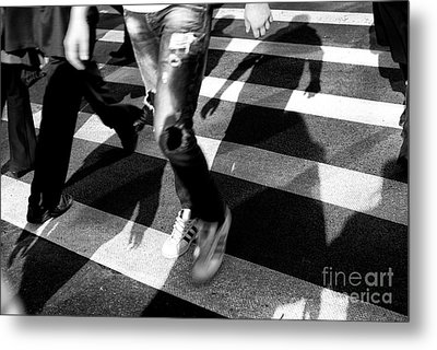 Metal Print featuring the photograph Crossings Adidas by John Rizzuto