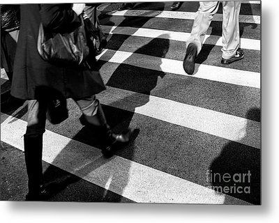 Metal Print featuring the photograph Crossings Shadow First by John Rizzuto