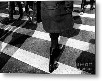 Metal Print featuring the photograph Crossings Black Boots by John Rizzuto