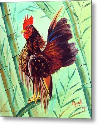 Crown Of The Serama Chicken Metal Print