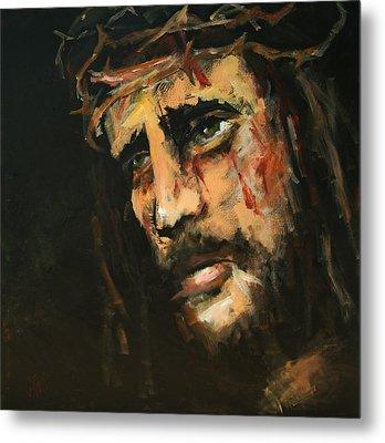 Crucified Jesus Metal Print