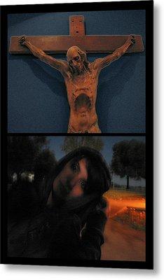 Crucifixion Metal Print by James W Johnson