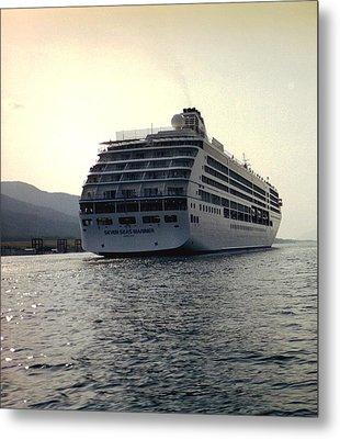 Metal Print featuring the photograph Cruise Ship In Alaska by Judyann Matthews