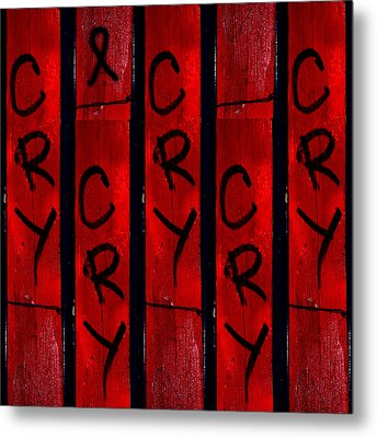 Cry With A Ribbon Metal Print by Taylor Steffen SCOTT
