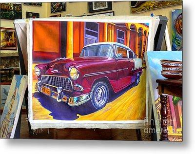 Cuban Art Cars Metal Print