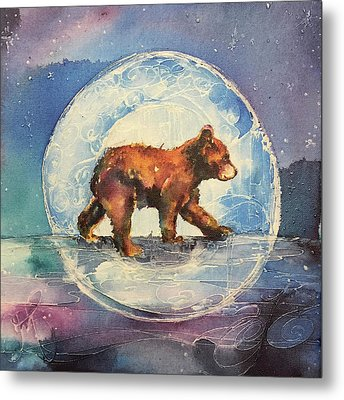 Metal Print featuring the painting Cubbie Bear by Christy Freeman