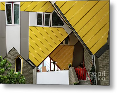Metal Print featuring the photograph Cube Houses Detail In Rotterdam by RicardMN Photography