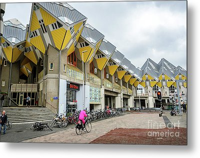 Metal Print featuring the photograph Cube Houses In Rotterdam by RicardMN Photography