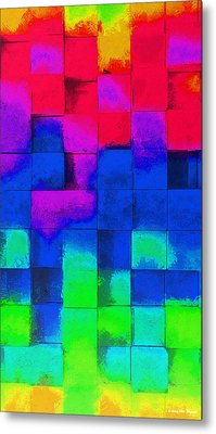 Cubism 4 - Da Metal Print