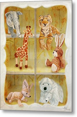 Cuddly Clubhouse Metal Print