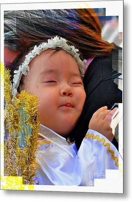 Cuenca Kids 879 Metal Print by Al Bourassa
