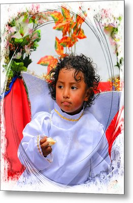 Cuenca Kids 882 Metal Print by Al Bourassa