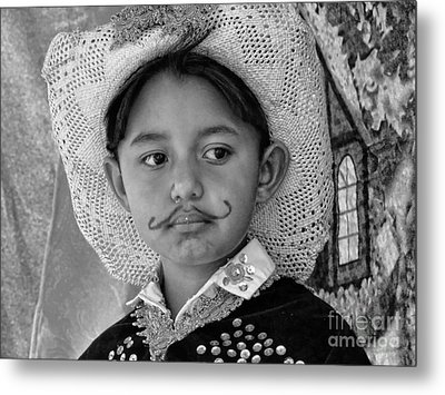 Metal Print featuring the photograph Cuenca Kids 883 by Al Bourassa