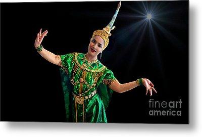 Cultural Thai Dance Metal Print