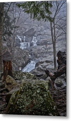 Metal Print featuring the photograph Cunningham Falls In The Rain And Fog by Mark Dodd
