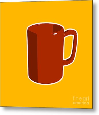 Cup Of Coffee Graphic Image Metal Print