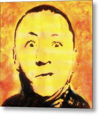 Curly Howard Three Stooges Pop Art Metal Print
