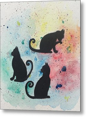 Curly Tails Metal Print