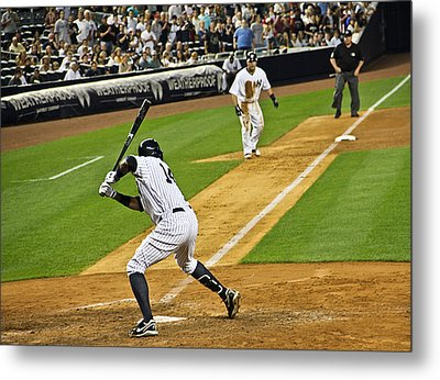 Curtis Granderson Metal Print by Andrew  Cragin