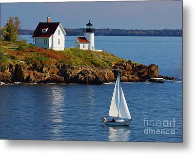 Curtis Island Lighthouse - D002652b Metal Print
