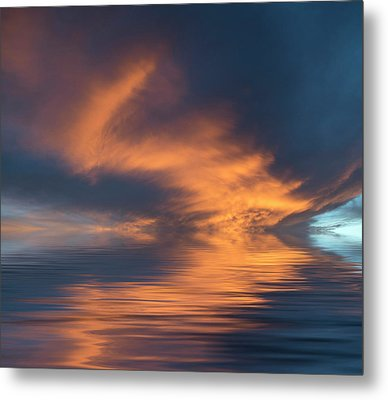 Curved Metal Print by Jerry McElroy