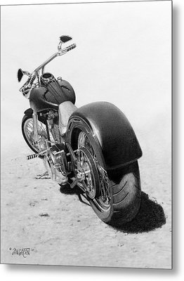 Custom Chopper Metal Print by Tim Dangaran