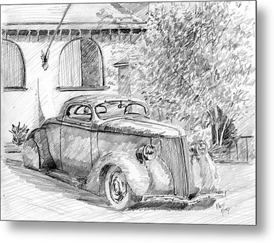 Custom Ford Graphite Metal Print