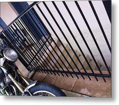 Cycle And Stairs I Metal Print by Anna Villarreal Garbis