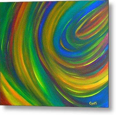 Metal Print featuring the painting Cynti by Cyryn Fyrcyd