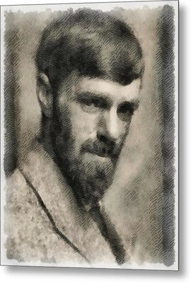 D. H. Lawrence, Author Metal Print
