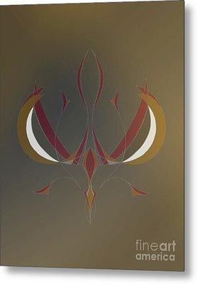 Da Vinci Spider Metal Print