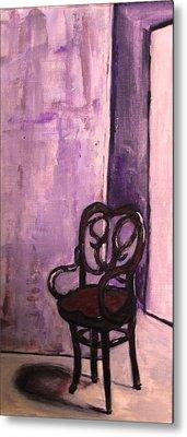 Daddy's Empty Chair Metal Print by Helena Bebirian