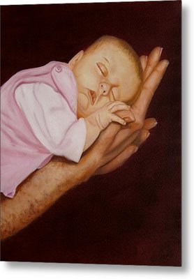Metal Print featuring the painting Daddy's Little Girl by Joni McPherson