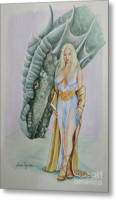 Daenerys Targaryen - Game Of Thrones Metal Print