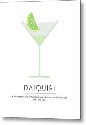 Daiquiri Classic Cocktail Minimalist Print Metal Print