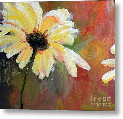 Metal Print featuring the painting Daisy 1 Of 3 Triptych by Susan Fisher