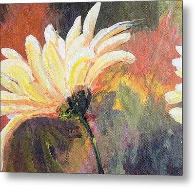 Metal Print featuring the painting Daisy 2 Of 3 Triptych by Susan Fisher