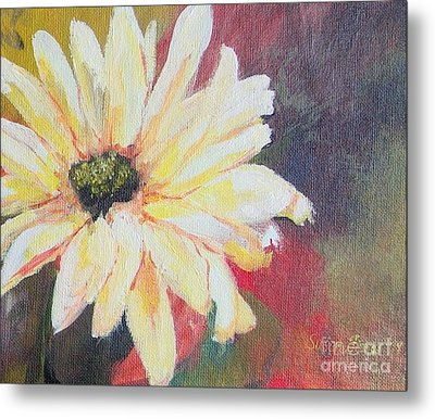 Metal Print featuring the painting Daisy 3 Of 3 Triptych by Susan Fisher