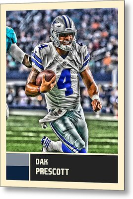 Dak Prescott Dallas Cowboys Metal Print by Joe Hamilton