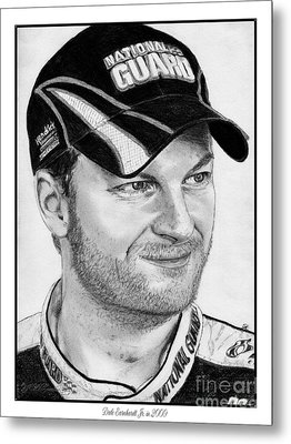 Dale Earnhardt Jr In 2009 Metal Print by J McCombie