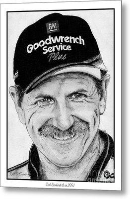 Dale Earnhardt Sr In 2001 Metal Print by J McCombie