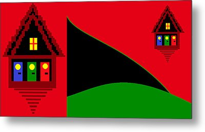 Metal Print featuring the digital art Dali's Summer House by Cletis Stump