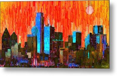 Dallas Skyline 61 - Pa Metal Print by Leonardo Digenio