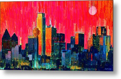 Dallas Skyline 71 - Da Metal Print by Leonardo Digenio