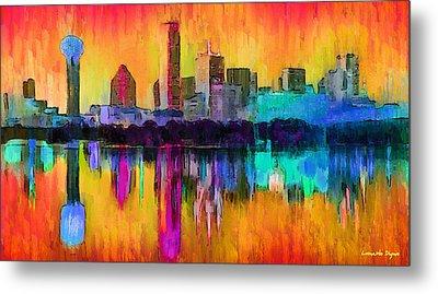 Dallas Skyline 9 - Da Metal Print by Leonardo Digenio
